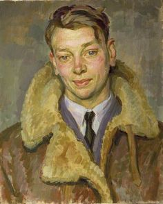 An Instructor at the Army and Royal Air Force Co-Operation School 1941 by Henry Taylor Lamb (1883-1960) oil on canvas 55.8 x 45.7 cm