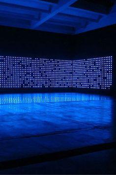 Indigo Light installation - Tatsuo Miyajima