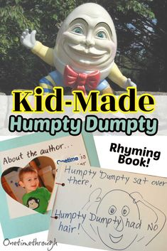 How to make a hilarious Humpty Dumpty rhyming book with your young kids. A fun and highly effective way to teach rhyming skills as well as develop phonemic awareness and listening skills! #earlyreading Reading Activities, Educational Activities, Rhyming Games, Spelling Patterns, Silly Pictures, Early Reading, Humpty Dumpty, Listening Skills, Phonemic Awareness