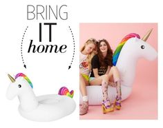 """""""Bring It Home: Rainbow Unicorn Float"""" by polyvore-editorial ❤ liked on Polyvore featuring interior, interiors, interior design, home, home decor, interior decorating and bringithome"""