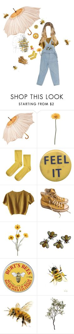 """""""The bees knees"""" by shay-heid ❤ liked on Polyvore featuring Gerber, Topshop, Schumacher, Converse and Crate and Barrel"""