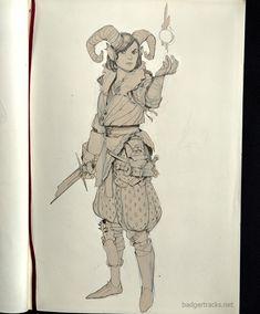D&D sketches – Summer Josh 'Badger' Atack on ArtStation at www. – Art Drawing Tips Character Poses, Character Drawing, Character Concept, Concept Art, Character Design, D D Characters, Fantasy Characters, Train Sketch, Character And Setting