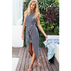 New Beginning Maxi Dress Navy