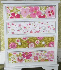 Cressida Carr's designs decorating some drawers. Garden Painting, Drawers, Paintings, Decorating, Flower, Furniture, Design, Home Decor, Art