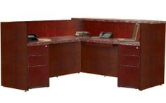 Mayline Group Luminary Reception Station, Box/Box/File, Box/Box/File by Mayline. $2600.99. Includes a center drawer Configured as either a freestanding double-pedestal desk station, or complete with non-handed return Optional glass counter top is available Return Dimensions: 48''W x 24''D x42''H