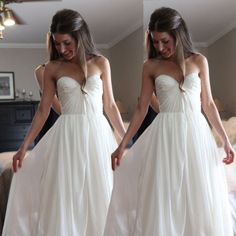 Simple Floor Length Sweetheart Beach Wedding Dresses