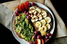 You don't know what to eat? What about this Avocado Toast with Sprouts and Sliced Red Onion and Nut Butter and another Toast topped with Banana Coins and more Nut Butters? This recipe, and much more inspiration in The Health Blog for the Lazy Girl