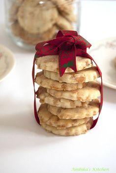 Butterscotch Shortbread Cookies (Eggless)