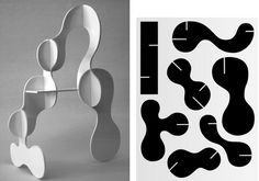 Karl Nawrot creates type, illustrates, and draws abstract graphic compositions. What makes the French designer stand out from others in the trade though, is his Abstract Sculpture, Sculpture Art, Sculpture Projects, Sculpture Ideas, Modern Sculpture, Karton Design, Paper Art, Paper Crafts, Jean Arp