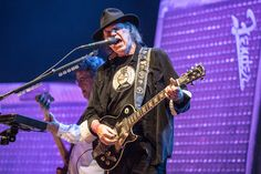 Neil Young performs in Paris.