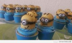 Despicable Me cupcakes with Twinkies!!! @Michelle Wisnieski by yvette