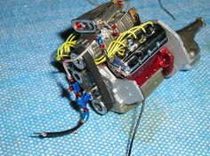 Detailing Model Car Engine