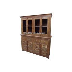 Indian Teak Two Part Cabinet | Teak Two Part Cabinet | Wooden Teak Two Part Cabinet | Teak Indian Furniture | Rustic Indian Teak Furniture