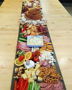 Grazing platter, dips, cob loaf, party food, crackers, cheese, cold cuts, fruits and so much more!