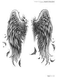 Ideas Tattoo Femininas Ideas Wings For 2019 Tatoo Angel, Angel Wings Tattoo On Back, Angel Wings Drawing, Wing Tattoos On Back, Angel Wings Art, Back Tattoo, Feather Tattoos, Body Art Tattoos, Tattoo Drawings