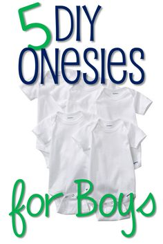 Sometimes little boys, and moms of little boys can feel a little left out in the crafty/DIY world. Here are 5 of my favorite DIY Onesie ideas for little boys! 1. Applique Onesies (Source) You can u...