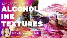 Cool DIY Alcohol Ink Vintage Effect Paper Textures!