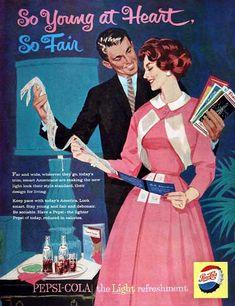 vintage pepsi advertisements | 1959 Pepsi Classic Vintage Print Ad