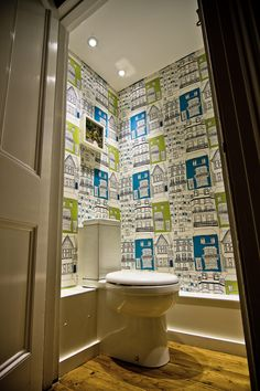 Colourful & quirky cloakroom, The Brighton Bathroom Company