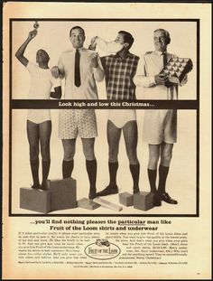 1965 Vintage ad for Fruit of the Loom shirts and underwear (020113)
