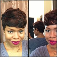 Short and Sassy - Custom 27 Piece Wig LOVE LOVE LOVE!!!! I guess I'd get a blowout first!