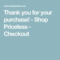 Thank you for your purchase! Double Infinity, Shopping