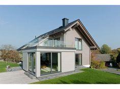 Sonnblick - #Einfamilienhaus von Fullwood - LK-Fertigbau GmbH   HausXXL #Blockhaus #modern #Satteldach