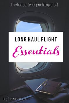 My Long Haul Flight Essentials Airplane Carry On, Travel Bag Essentials, Best Travel Guides, Long Flights, Long Haul, Travel Gifts, Train Travel, Vacation Trips, Travel Quotes