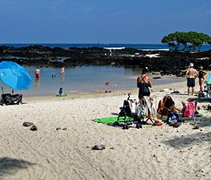 Kikaua Beach is a dreamy palm fringed Hawaii beach with a small swimming area and beautiful tide pools. Kona Hawaii, Tide Pools, Big Island, Swimming, Explore, Beach, Places, Wedding, Beautiful