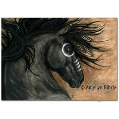Majestic Horse -Spirit Stallion Black Friesian Feathers Fine ArT... ($20) ❤ liked on Polyvore featuring home, home decor, wall art, black home decor, horse home decor, black home accessories, black wall art and feather wall art