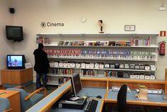 El fons de cinema de la biblioteca.