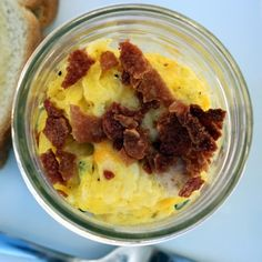 Bacon & Eggs in a Jar Recipe Breakfast and Brunch with eggs, fresh ...