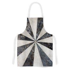 Kess InHouse Susan Sanders Stripe Love Black White Artistic Apron