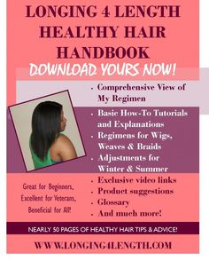 * Longing 4 Length Healthy Hair Handbook Now Available - Hailey Healthy Relaxed Hair, Healthy Hair, Natural Hair Care, Natural Hair Styles, Natural Redhead, Natural Beauty, Yolo, Grow Long Hair, Short Hair