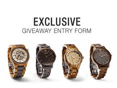 Enter to win from JORD!  Provide your first name, email address, and let us know your favorite watch to enter.