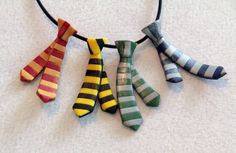 Harry Potter House Ties by KatanaBanana on Etsy