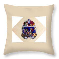 Clone Trooper Decorative Pillow  Artwork by Apanaki Temitayo M  Shop at Apanaki Designs