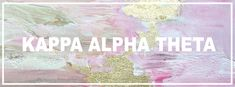 Geneologie | Greek Life | Sorority | Sisterhood | Freebie | Facebook Cover Photo | KAT | Kappa Alpha Theta | Theta | Free Download