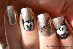 From Nail Guru - Mickey Mouse Nails
