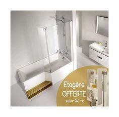 Ensemble baignoire Neo Jacob delafon - version droite, 170 X 70/90 - CE6D002R + E4930-GA + E6D008 + E6D070 - Plomberie sanitaire chauffage