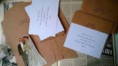 Partecipazioni vintage realizzate a mano. Wedding invitation vintage handmade.