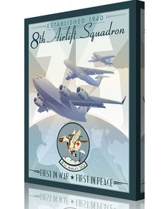 Share Squadron Posters for a 10% off coupon! 8th Airlift Squadron 75th Anniversary #http://www.pinterest.com/squadronposters/