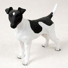 Dog Figurine Fox Terrier Black White Standard