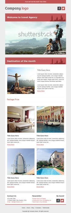 HTML email templates for free Campaign Monitor Email Design - sample business newsletter