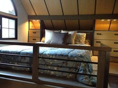 Tiny House. 280 Square Ft Home. Tiny House Tour Interior Pictures. Love the whole thing but especially the sleeping loft. Tiny House Show, Modern Tiny House, Tiny House Plans, Tiny House Design, House 2, Small Space Living, Tiny Living, Living Spaces, Living Area