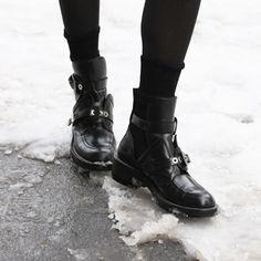 Black Balenciaga boos {photo by Nicole Comeau}