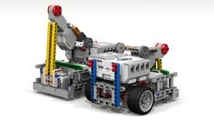 """Fllying Gecko Robot :: My LEGO creations. This Lego Mindstorms robot base is good for FIRST Lego League (FLL) competitions. The """"Fllying Gecko"""" features a pivoting Large Mot. Robot Wheels, Lego Nxt, Build A Robot, First Lego League, Robotic Automation, Lego Mindstorms, Lego Projects, Computer Technology, Lego Creations"""