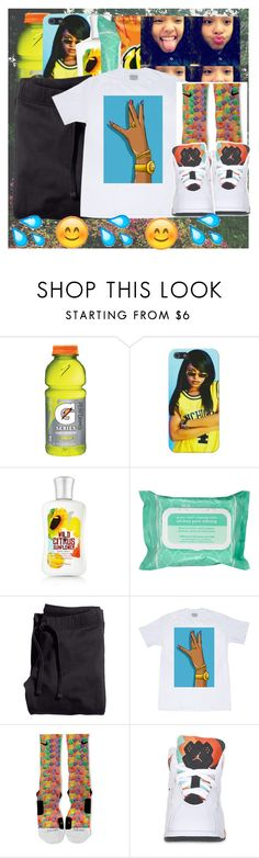 """"""" I See You Workin' That Baby , You Need To Bring Yo A** To The Westside .Tonight We Tryna Freak Sum , Bring A Friend , Bring A Friend , It's A Threesome """" by tanishacain ❤ liked on Polyvore featuring Ole Henriksen, H&M and NIKE"""