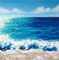 Playa de la pintura acrílico pintura Resumen por NiksPaintGallery