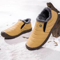 Womens Large Size Unisex Waterproof Fur Lining Slip On Snow Boots Shoes Winter Heels, Winter Boots, Casual Heels, Casual Boots, Wedge Sneakers, Casual Sneakers, Snow Boots, Rain Boots, Flat Heel Boots